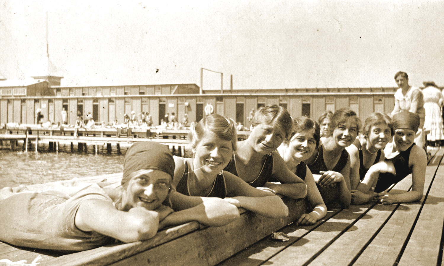 Helgoland Swim Baths - Denmark - Stefanie Fryland Clausen - Olympic Gold Winner - 1920
