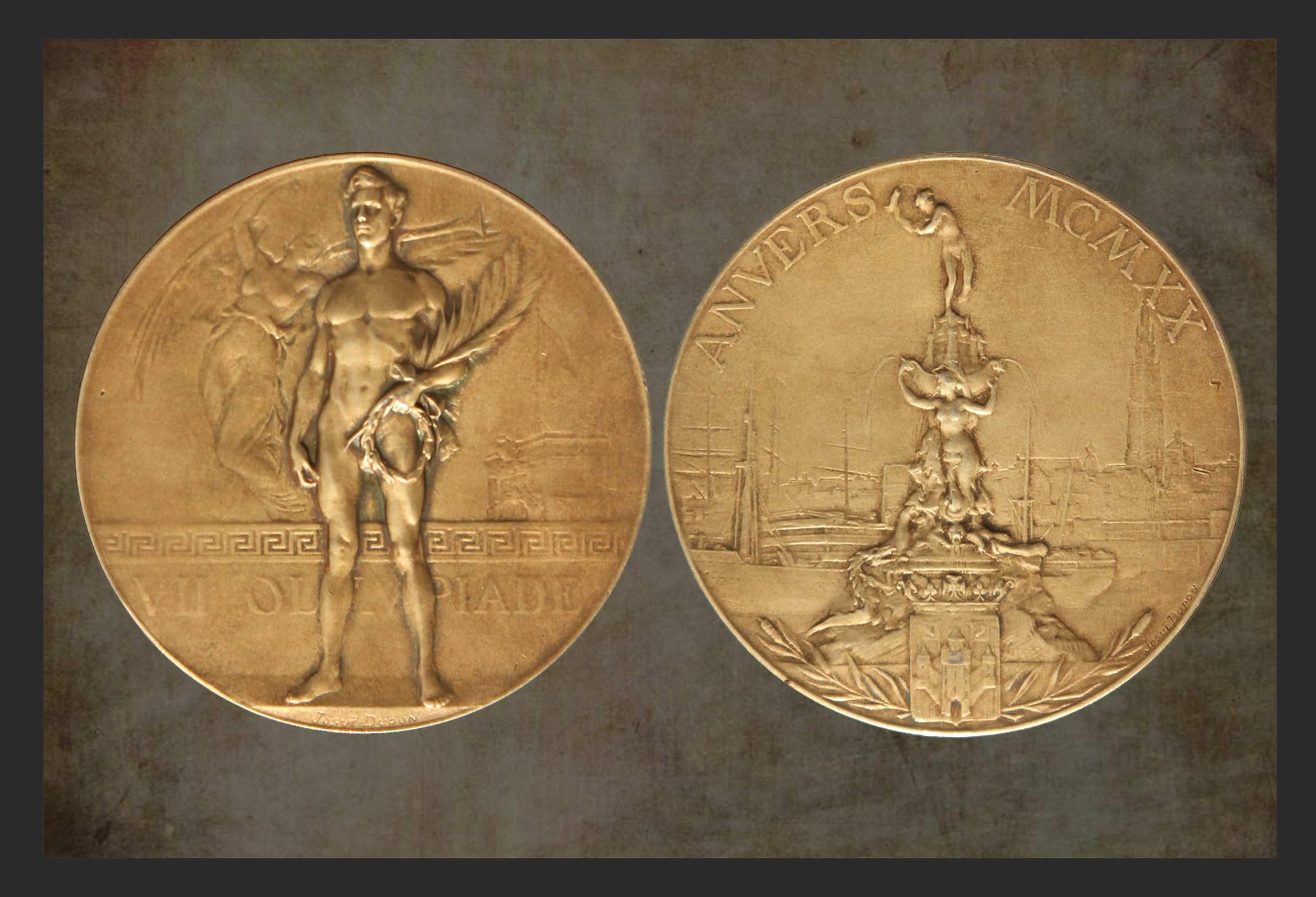 Stefanie Fryland Clausen - Olympic Gold Medal - 1920 - Antwerp - Belgium