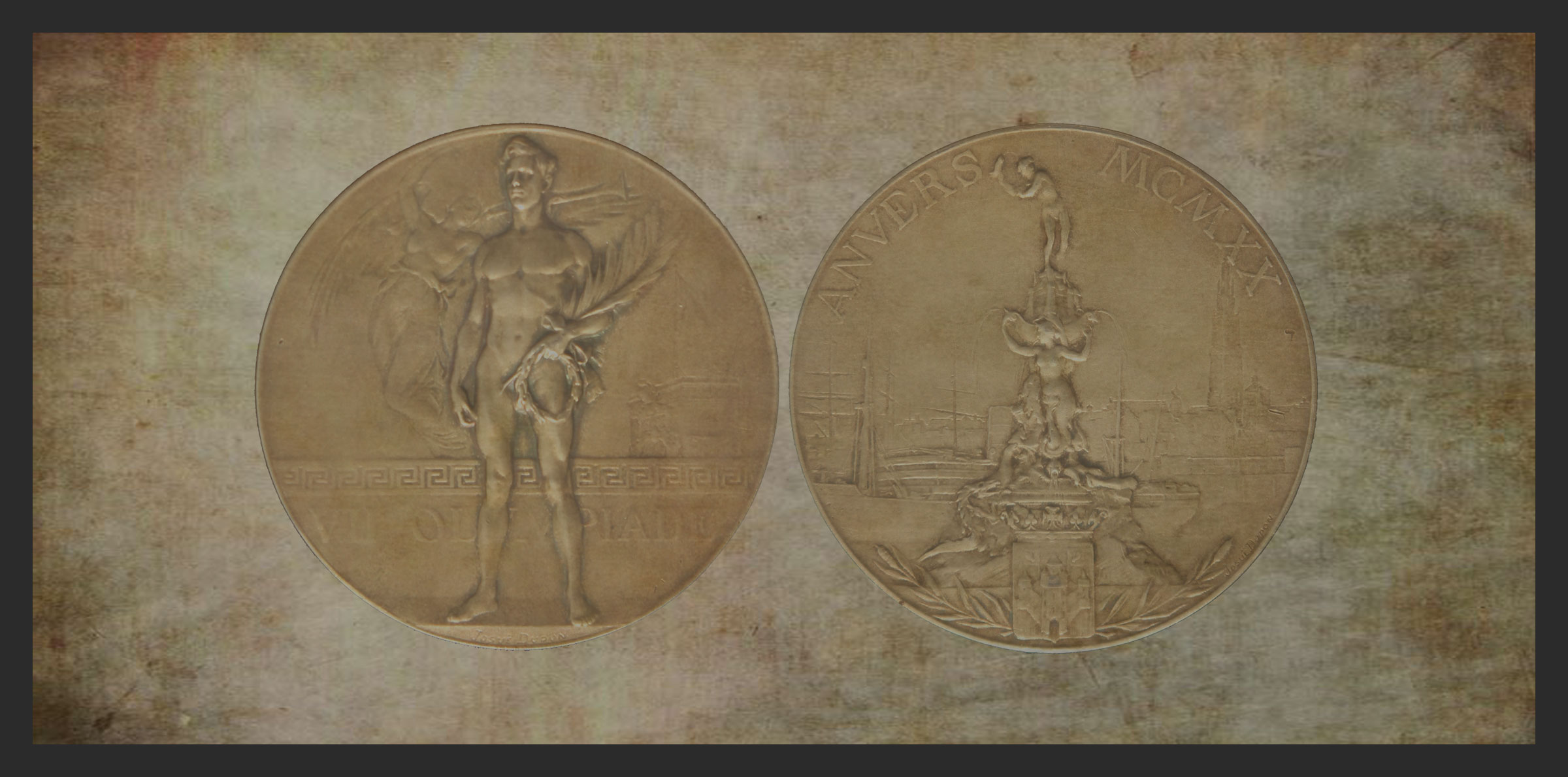 Stefanie Fryland Clausen Gold Medal 1920 Olympic Games Antwerp Belgium